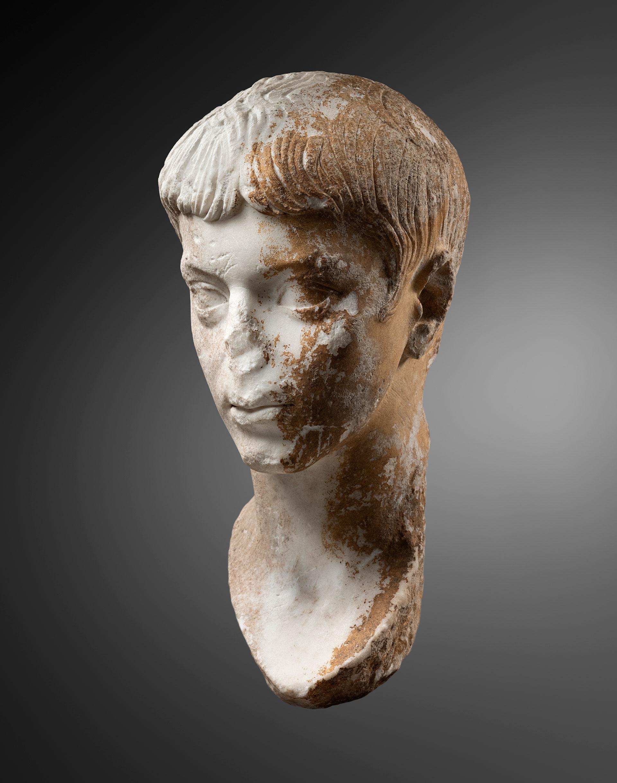 roman portrait of lucius caesar