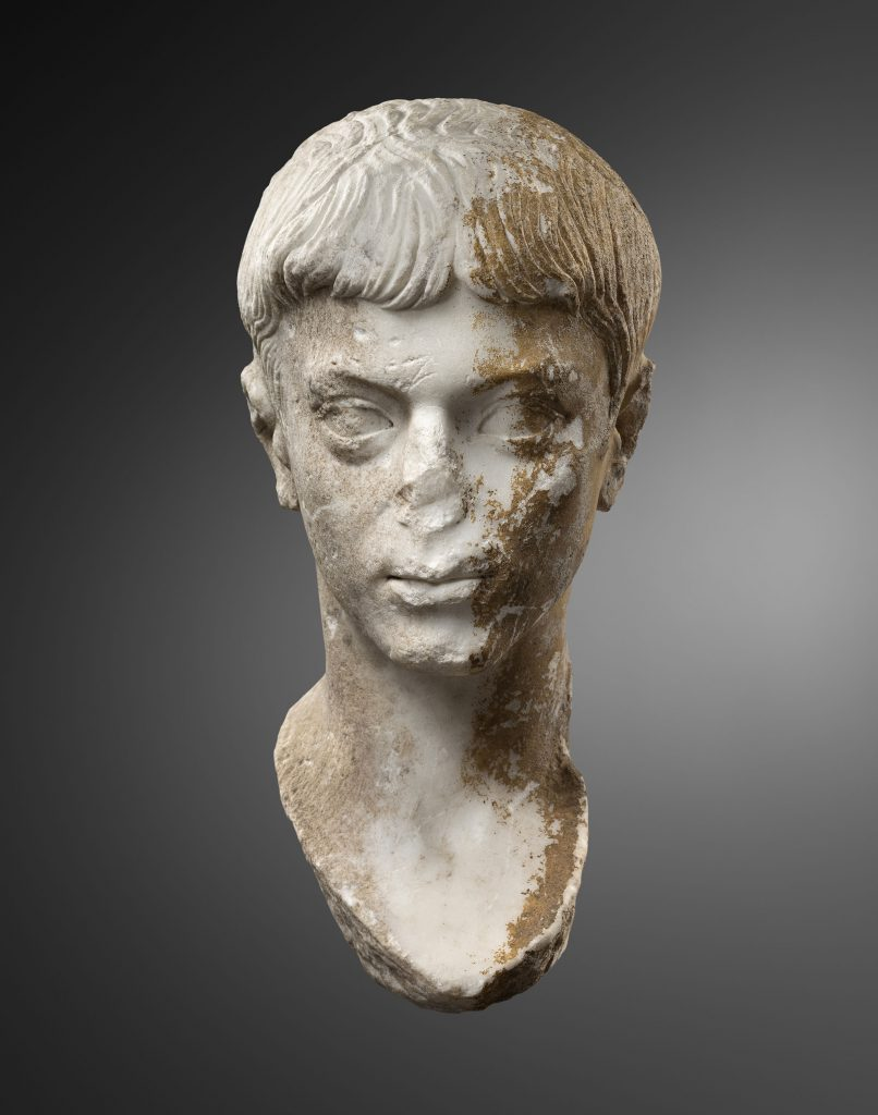 roman portrait of lucius caesar face